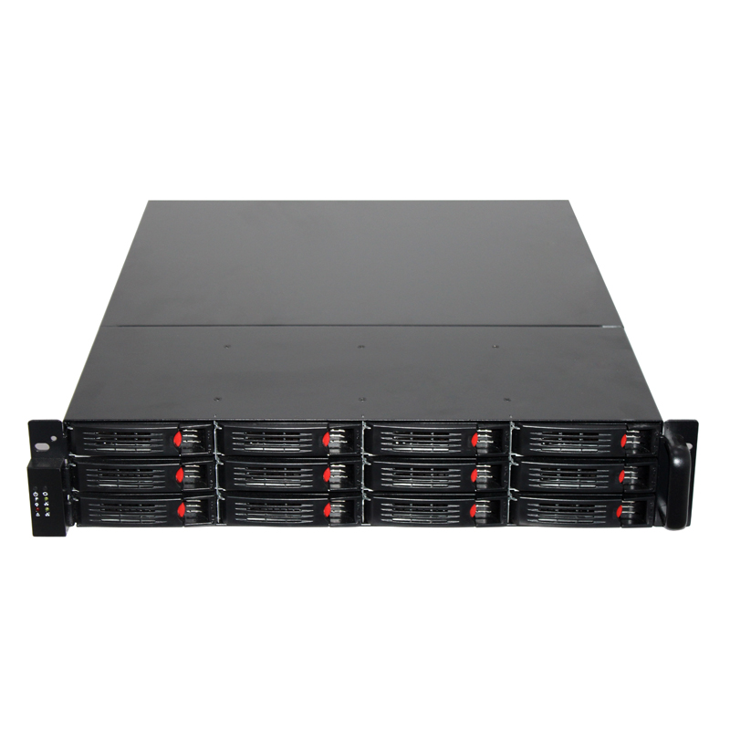 2U rackmount storage server case with HDD tray