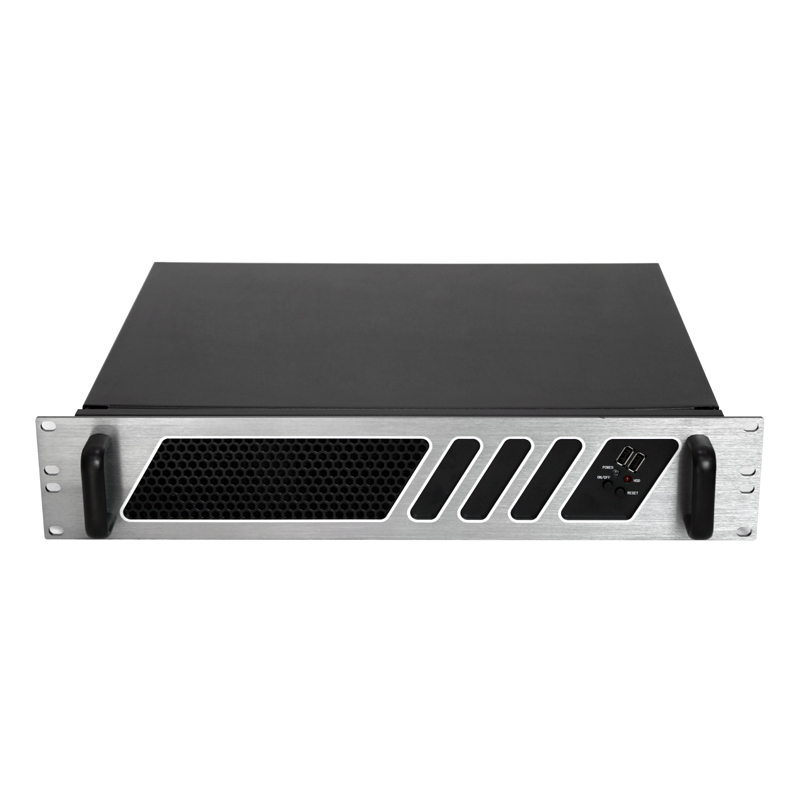 Good quantity 2u aluminum custom Micro ATX server rackmount chassis with cooling fans